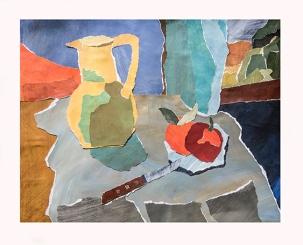 Les pommes et le couteau (format 35x45)